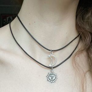 Two Piece BFF Friendship Y2K Sun and Moon Chokers